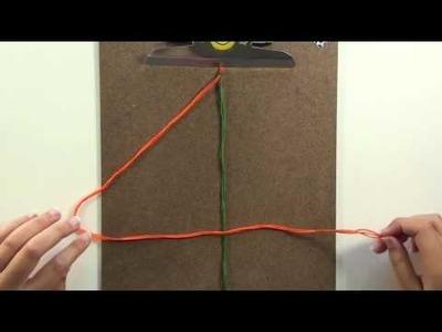 Double Chain Knot Friendship Bracelet.