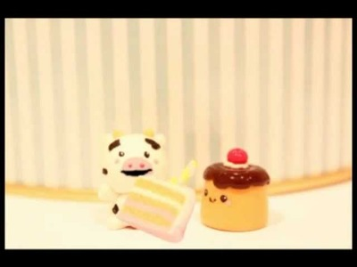 ◕‿◕ Cow! Kawaii Friday 28 (Tutorial in Polymer Clay)