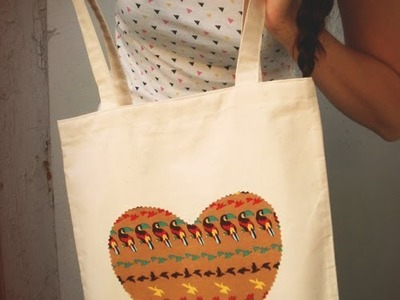 Easy canvas tote bag tutorial