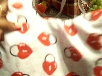 Ebay Auction Handmade Valentine Reversible Handbag.Purse.Diaper Bag