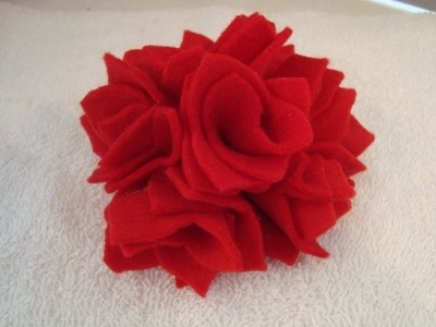 FELT FABRIC FLOWER # 9, fashions by carlitto