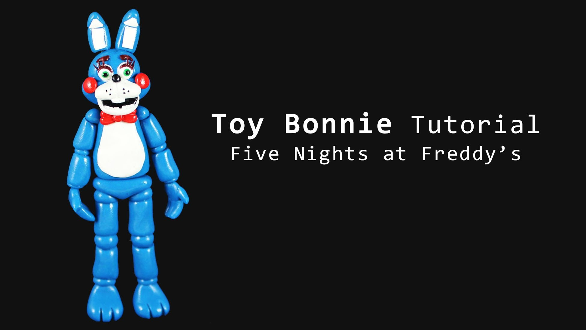 Five Nights at Freddy's 2 Toy Bonnie Polymer Clay Tutorial
