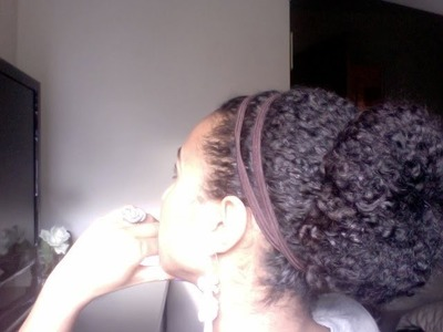 Flower bun - A quick protective style