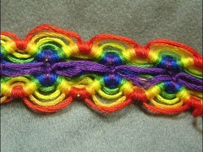 ► Friendship Bracelet Tutorial - Intermediate - Divided Peruvian Wave