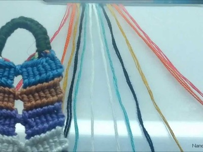 Friendship Bracelet Tutorial 37-The Double Connected Flip Flop Zig Zag-(Beginner)