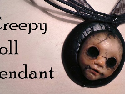 Halloween; Polymer Clay Creepy Doll Charm