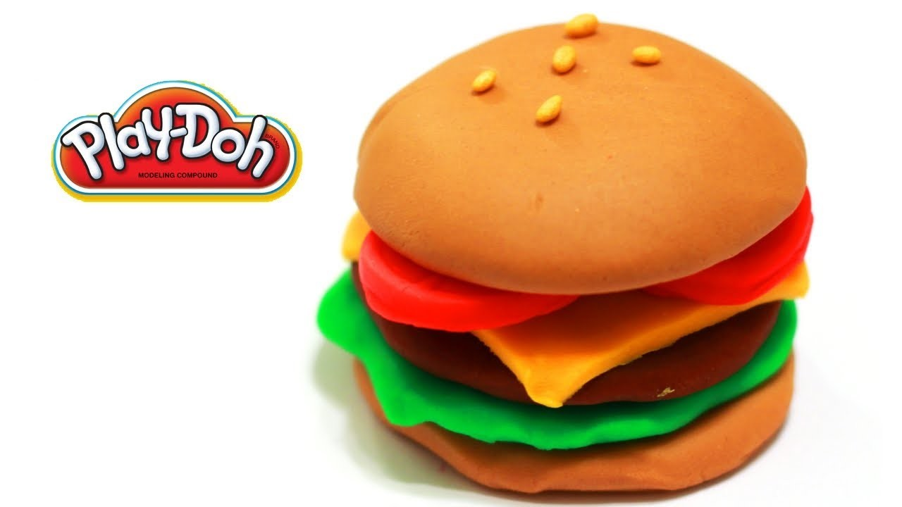 "How to Make a Playdoh Burger ""Yum~"""