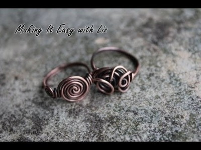 How To Make an Easy Wire Ring-2 Styles