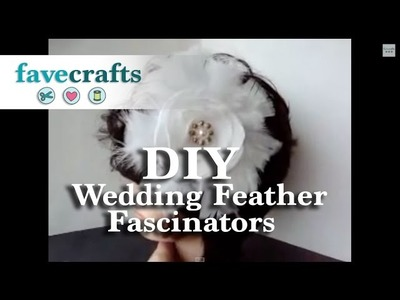 How to Make Wedding Feather Fascinators