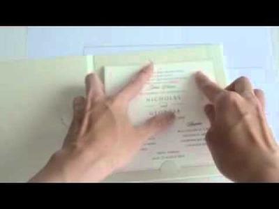 Kanna hardcover vintage lace invitation tutorial part 2