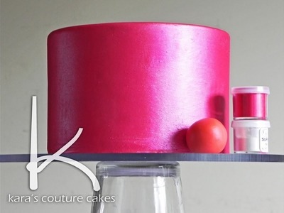 Kara's Couture Cakes - How to Apply a Luster Finish to Cakes