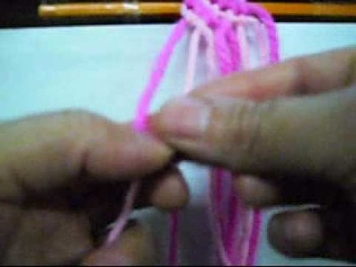 Kiwua How To make 2 Color  Lines friendship bracelet.