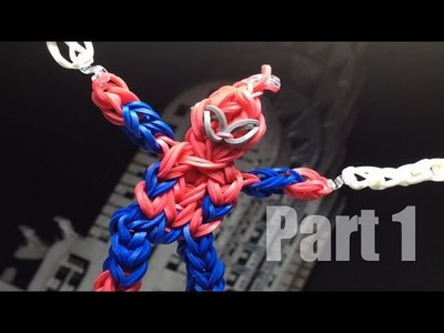 Making a Spiderman Action Figure on the Rainbow Loom Part 1