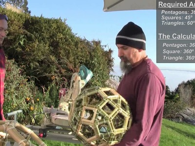 Math in Art and Design: How to make a Bucky-Ball & a Rhombicosidodecahedron with Bamboo & Zap-Straps