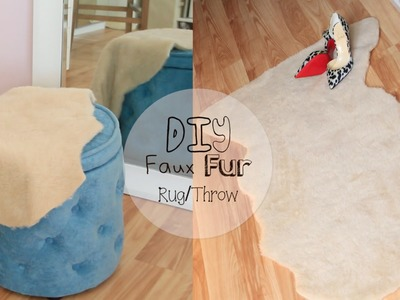 No Sew Faux Fur Throw.Rug