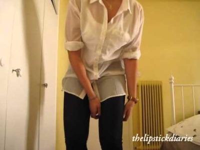 OOTD 4: White Oversized Shirt, Jeggins and Suit Jacket