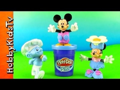 PLAY-DOH Mickey Mouse Minnie Mouse Make Over by Baker Smurf Play-Doh Plus by HobbyKidsTV