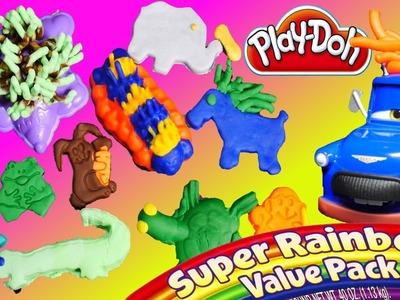 Play Doh SUPER Rainbow Value Pack Disney Pixar Cars 2 Mater Ivan Play Dough Hair