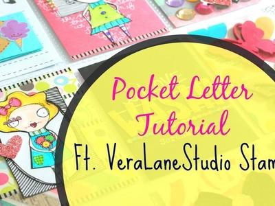 Pocket letter Tutorial --Start to Finish Ft. Vera lane Studio Stamps