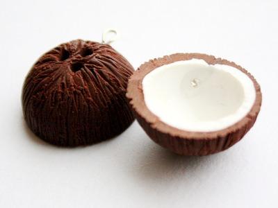 Polymer clay coconut TUTORIAL (fruit bracelet part 1)