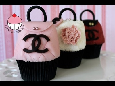 Purse Cupcakes!! How to Make CHANEL Handbag Cupcakes by Cupcake Addiction