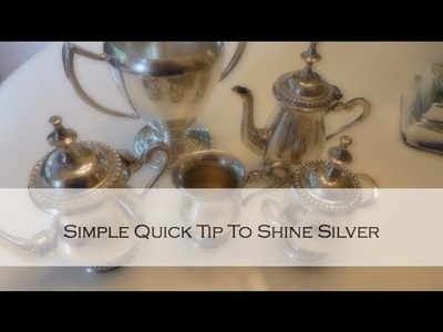 Quick Home Tip: How To Simply Clean Silver Pieces