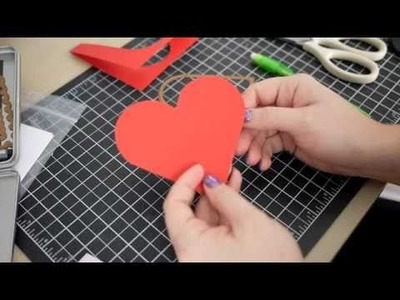 Quick Tip - Making a Heart Shaped Card Base