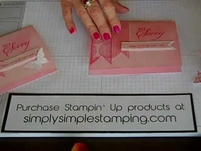 Simply Simple FLASH CARD Banners + Butterflies by  Connie Stewart