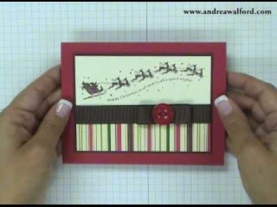 Stampin' Up! Tutorial: Wandering Words Christmas Card
