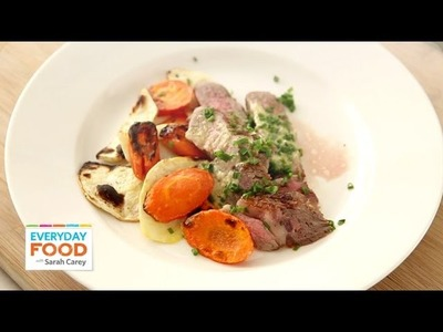Steak Recipe with Horseradish Butter & Vegetables - One Pot Meal - Everyday Food with Sarah Carey