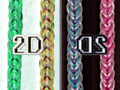 2D EASY Reversible Rainbow Loom Bracelet Tutorial