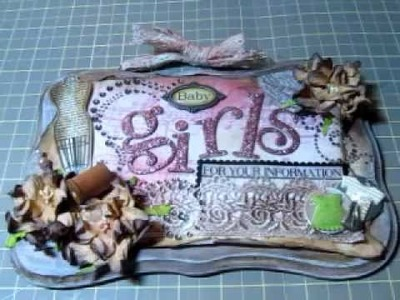 Altered Shabby Chic Door Hanger