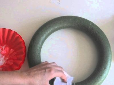 Coffee Filter Ruffle Wreath