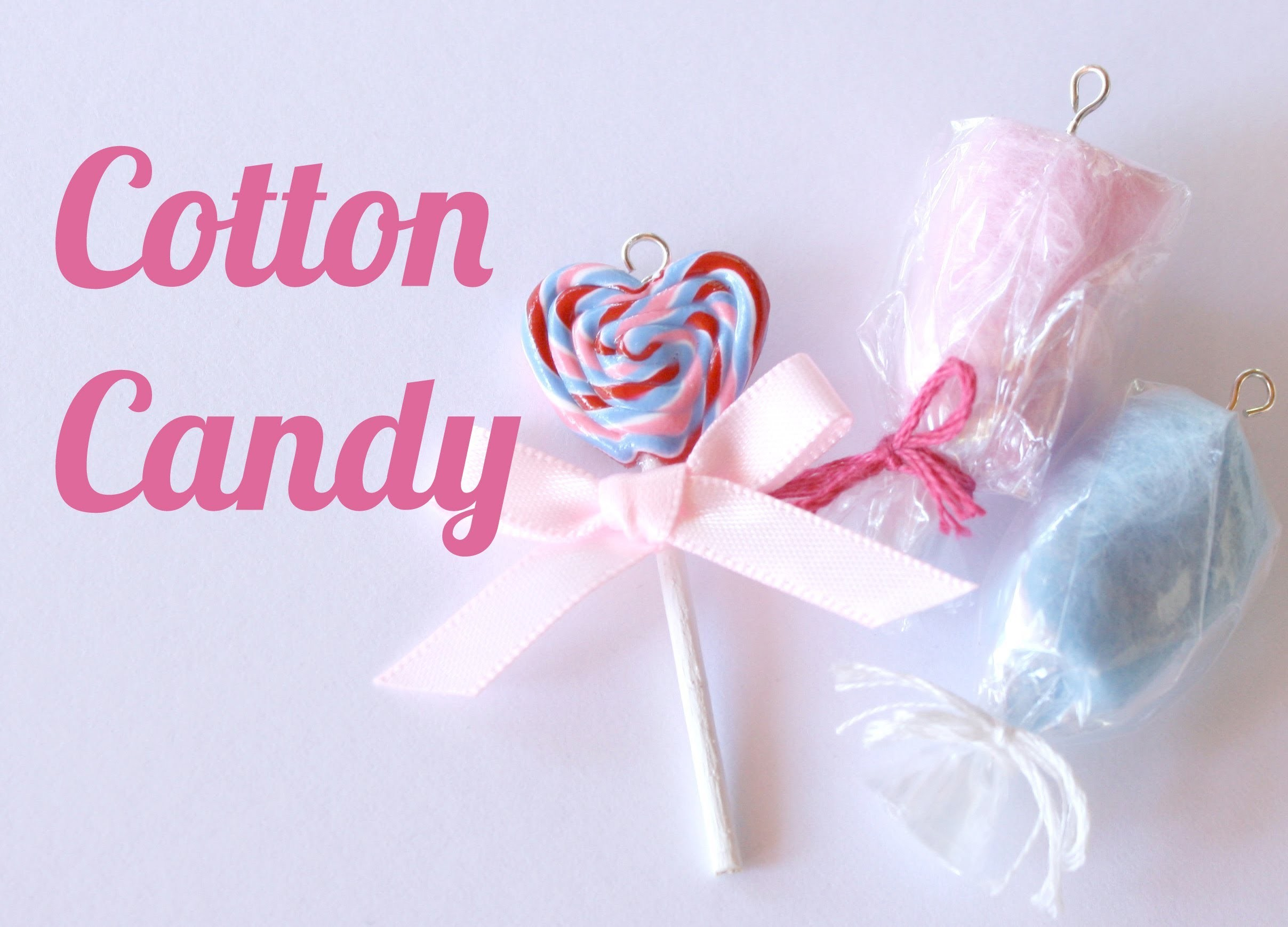Cotton Candy Charms - Polymer Clay Jewelry (Jewellery) Tutorial