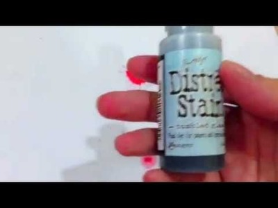 Create Paint Splatter With Distress Stains