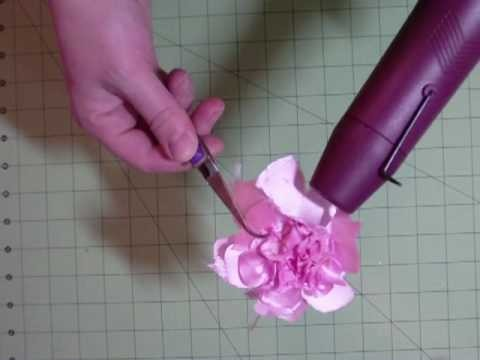 Cutting Satin Flowers with Cricut