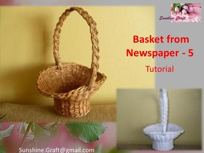 D.I.Y - Basket from Newspaper 5 - Tutorial