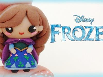 Disney Frozen Anna Polymer Clay Charm Tutorial - Chibi