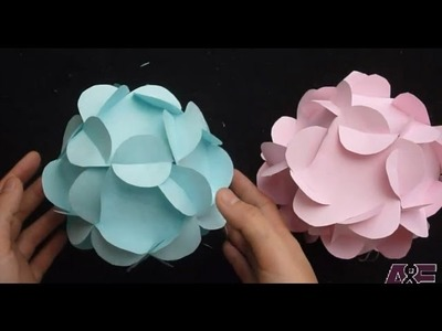 Extremely Easy Way To Make A 3D Paper Flower Ball Tutorial