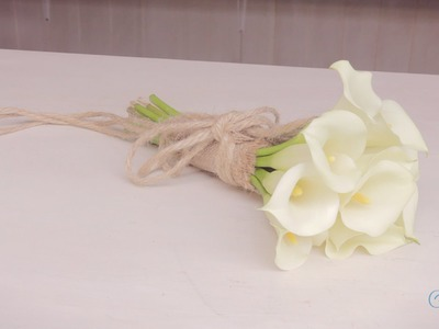 Flowers & Floristry Tutorial: How to Make an Calla Lily Wedding Bouquet