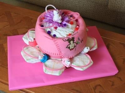 Giant Flower Diaper Cake