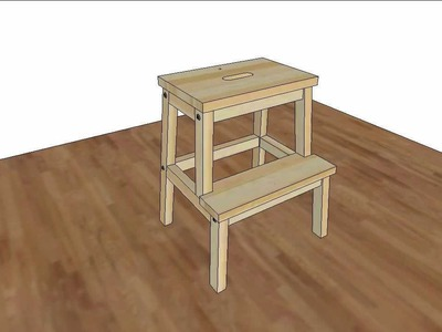 How to assembly IKEA Bekvam step stool, assembly animation, IKEA Bekväm pall