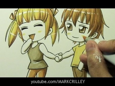 How to Draw Chibi Characters Holding Hands [#bethegold]