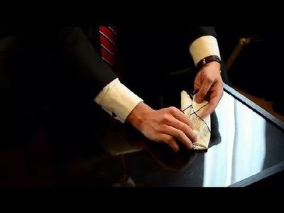 How to Fold Men's Handkerchiefs : How to Fold Men's Handkerchiefs