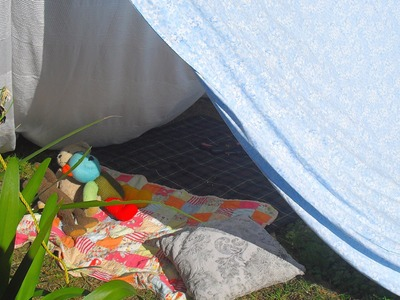 How to make a homemade tent