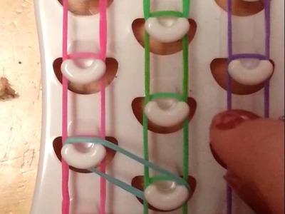 How to make a triple single bracelet with fun loom