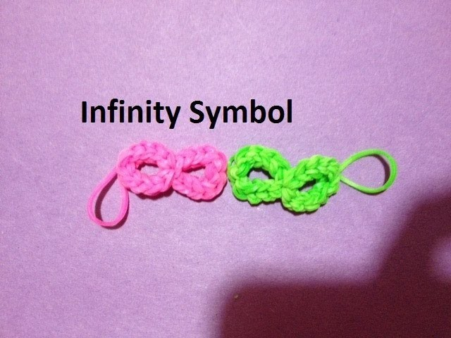 How to Make an Infinity Symbol on the Rainbow Loom - Original Design