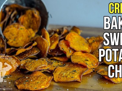 How to Make Crispy Baked Sweet Potato Chips. Como Hacer Chips de Batata