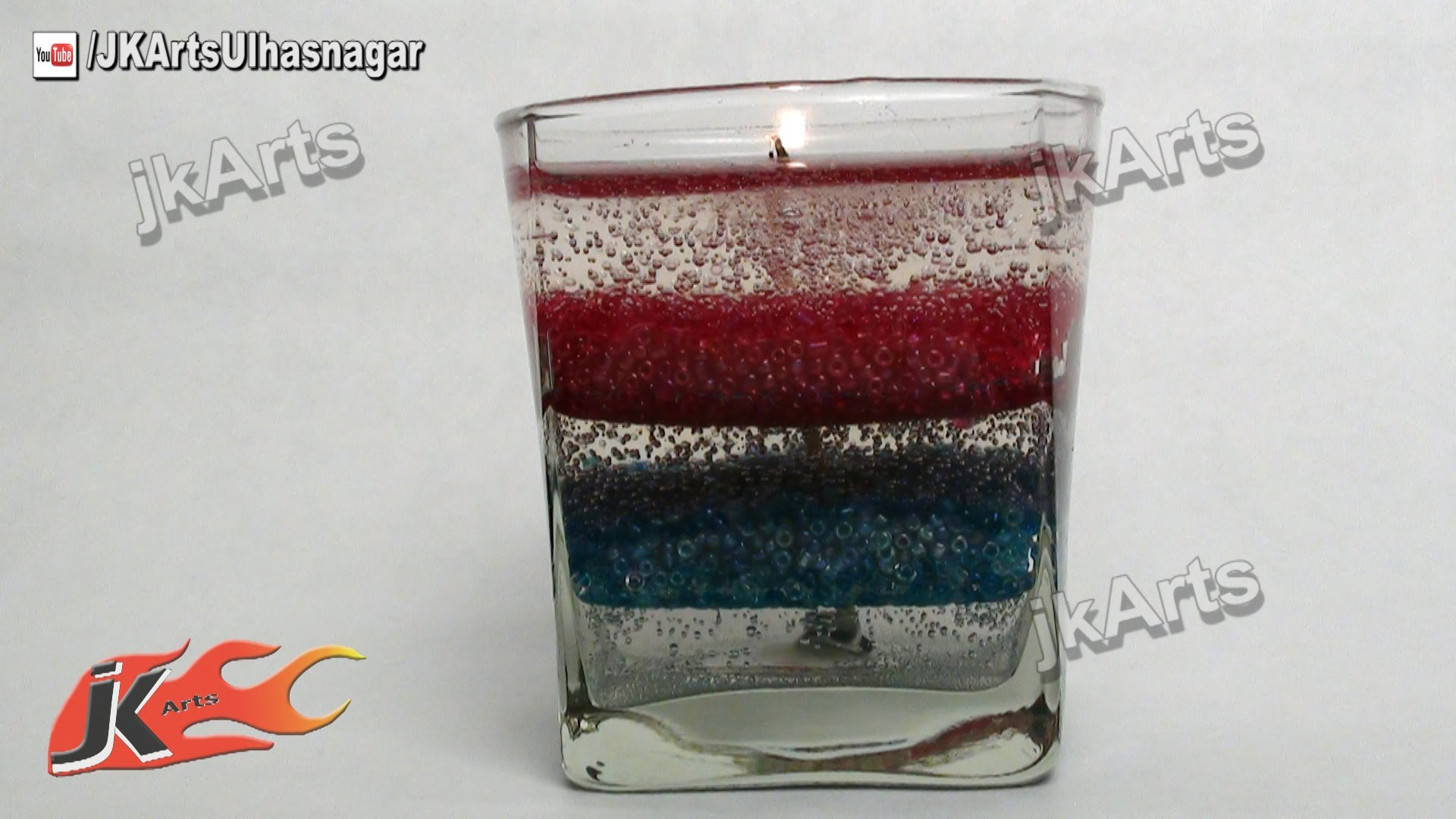HOW TO: make Layered Gel Candle  - JK Arts 463