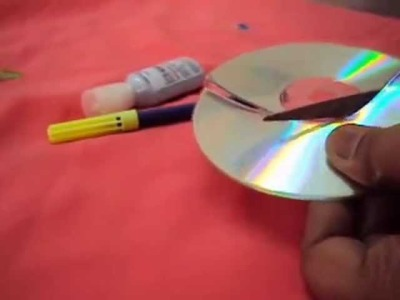 HOW TO MAKE MOON FROM WASTE CD'S